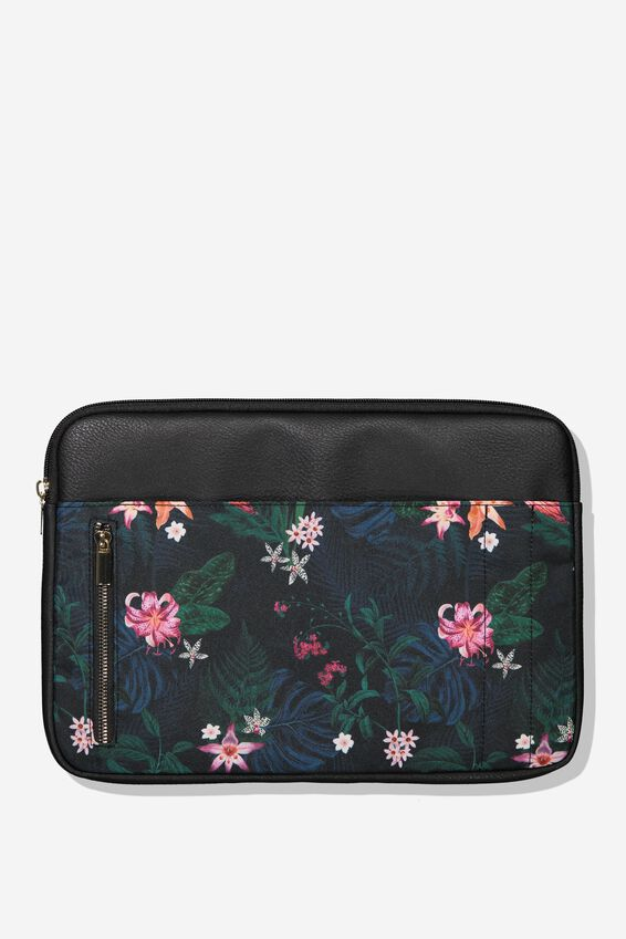 "Take Charge Laptop Cover 13"", JUNGLE FLORAL"