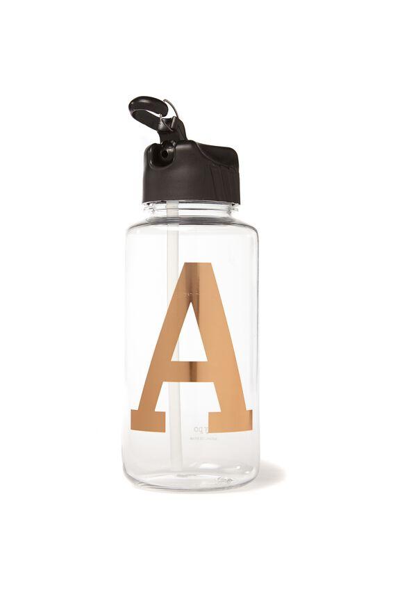 Alphabet Drink Bottle, ROSE GOLD A