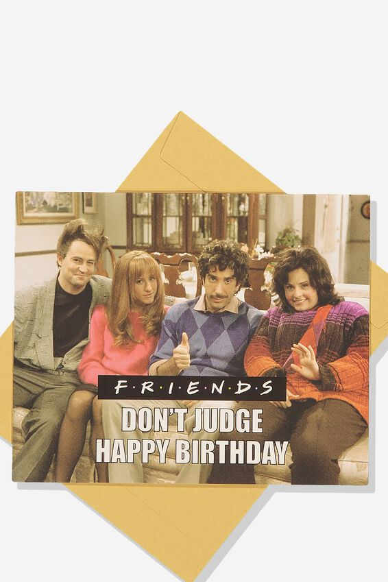 Funny Birthday Card, LCN WB FRIENDS DON'T JUDGE