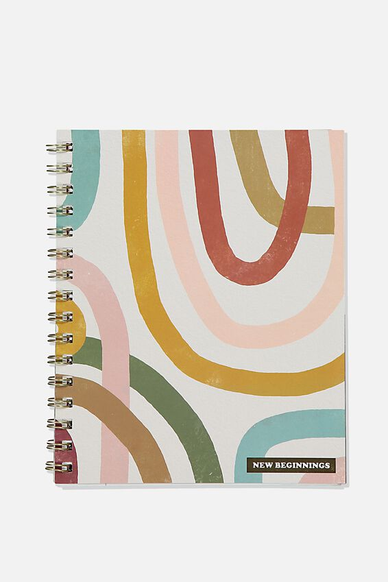 A5 Campus Notebook Recycled, NEW BEGINNINGS