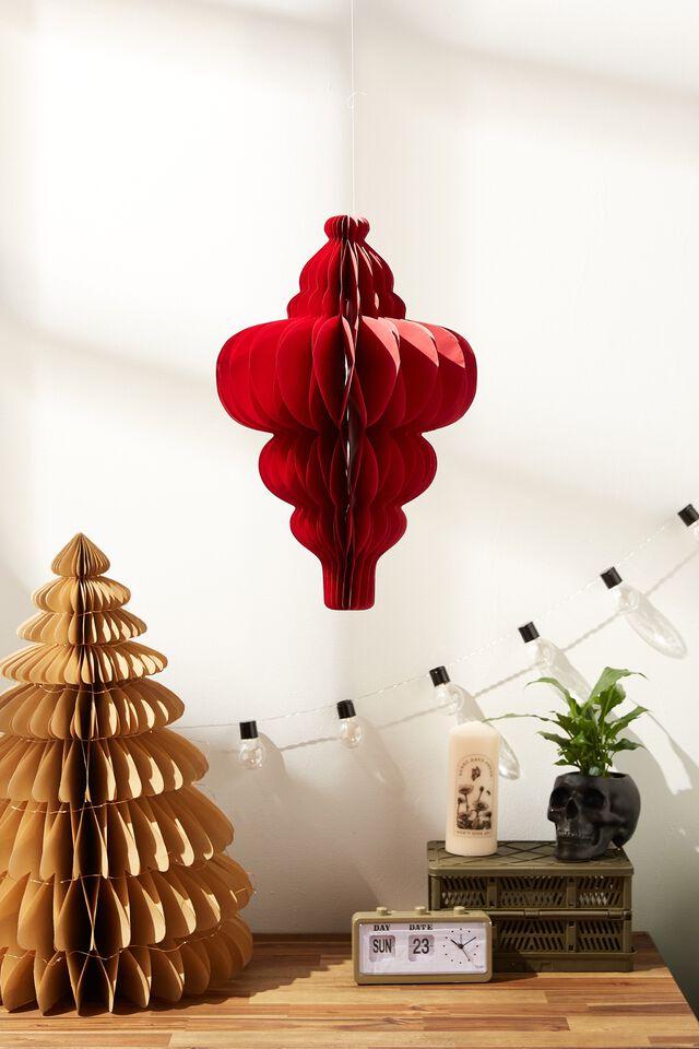 Paper Genie Bottle Decoration, TRUE RED