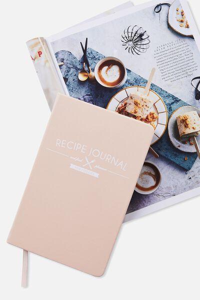 Premium Activity Journal, BLUSH RECIPE BOOK
