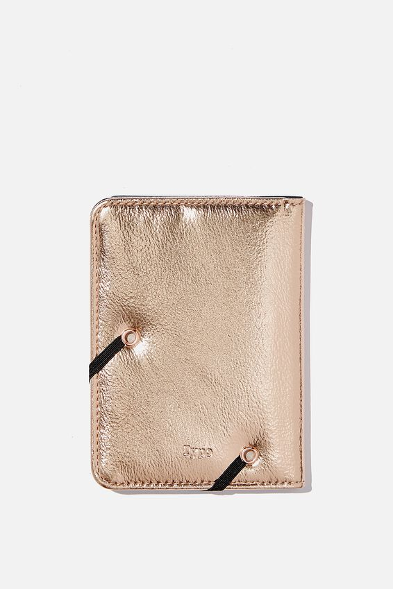 Rfid Passport Holder, BON VOYAGE ROSE GOLD!