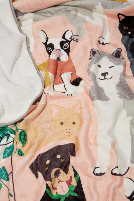 Printed Throw, ANIMAL LOVER