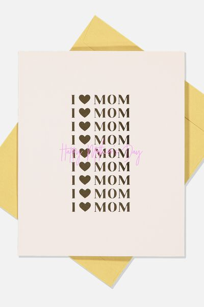 Mothers Day Card 2019, I HEART MOM