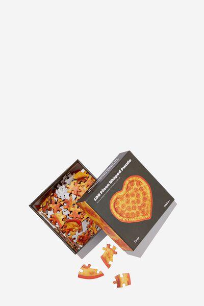 100 Piece Puzzle, HEART PIZZA