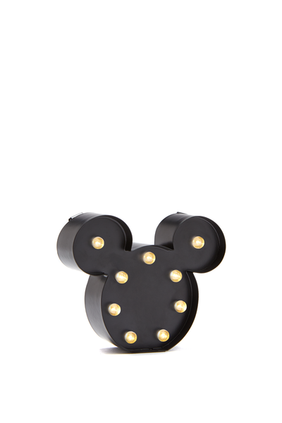 Shaped Mini Marquee Light, LCN MICKEY MOUSE BLACK