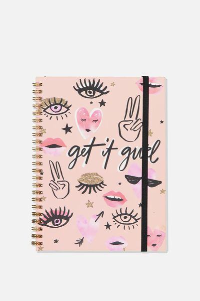 Small Spinout Notebook - V, GET IT GIRL