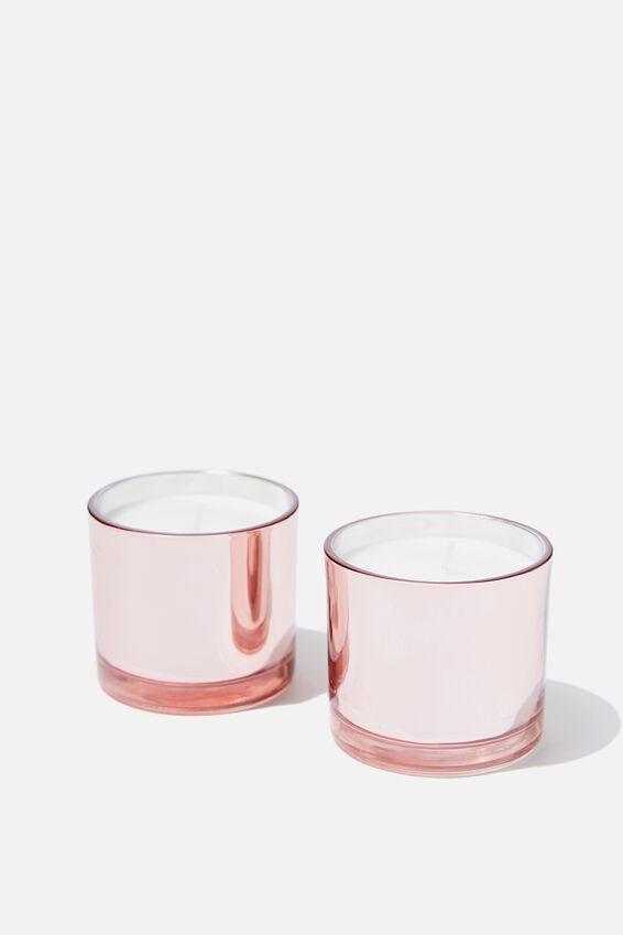 Duo Candle Set, ROSE GOLD