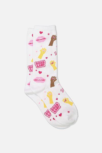 Womens Novelty Socks, GET EM YARDAGE