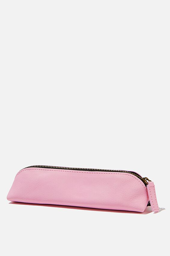 Buffalo Barrel Pencil Case, PLASTIC PINK