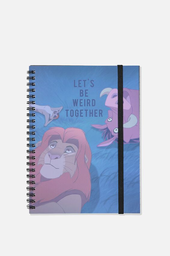 Small Spinout Notebook - V, LCN DIS LION KING WEIRD TOGETHER