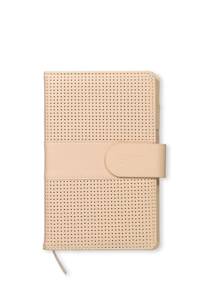 2018 Deluxe Diary, PERFORATED BLUSH