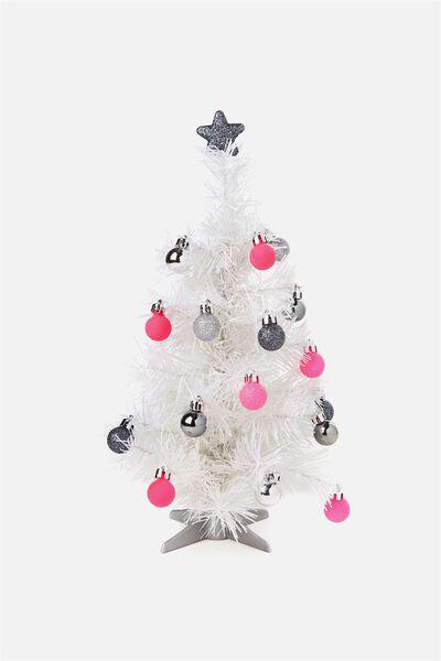 Mini Xmas Tree Pack, WHITE & NEON