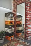 Midi Foldable Storage Crate, ECRU