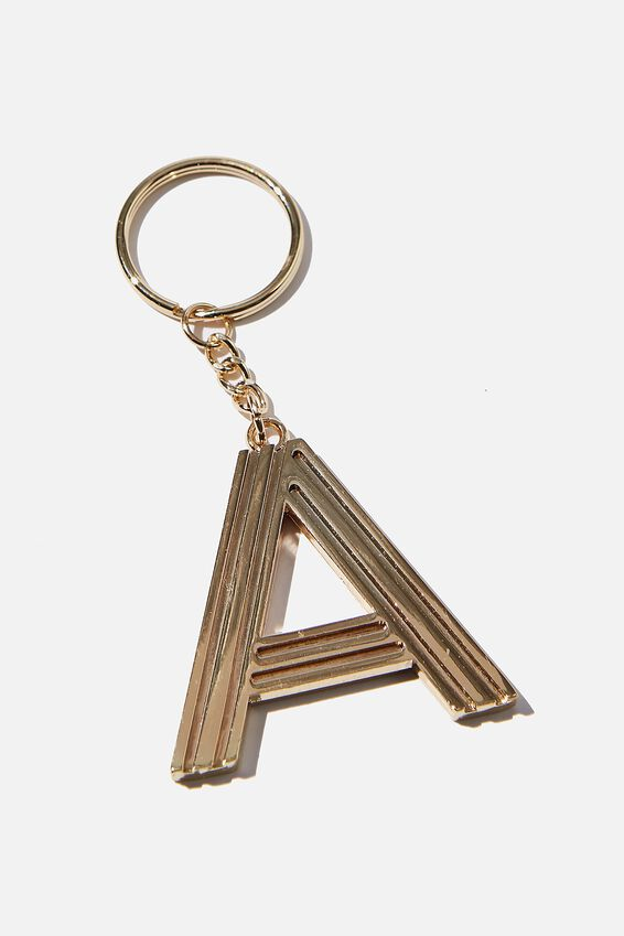 Alphabet Keyring, GOLD GRID A