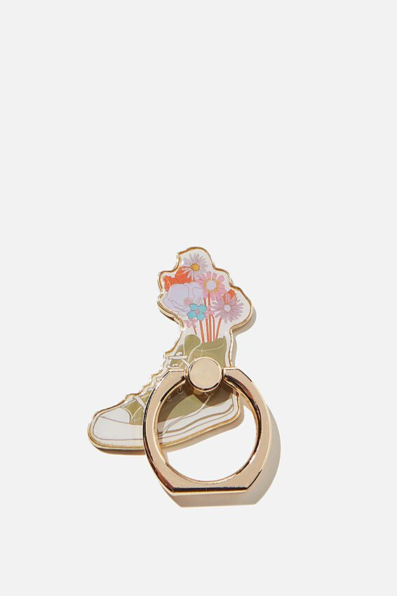 Enamel Phone Ring, FLORAL SHOE