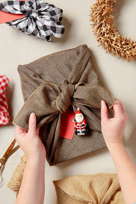 Fabric Wrapping Pack Large 1Pk, NATURAL BROWN