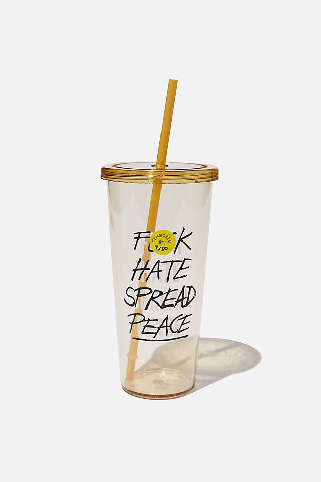 Sipper Smoothie Cup, F HATE SPREAD PEACE!!