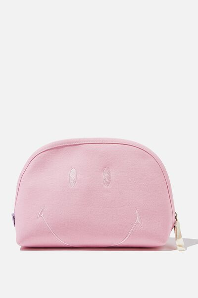 Canvas Essential Pouch, LCN SMI SMILEY PINK FACE