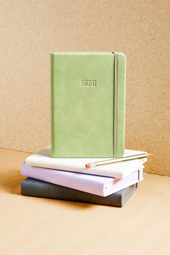 2021 A5 Weekly Buffalo Diary, ALLY GREEN
