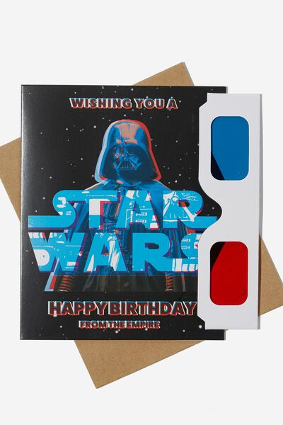 Premium Funny Birthday Card, LCN LU STAR WARS THE EMPIRE 3D