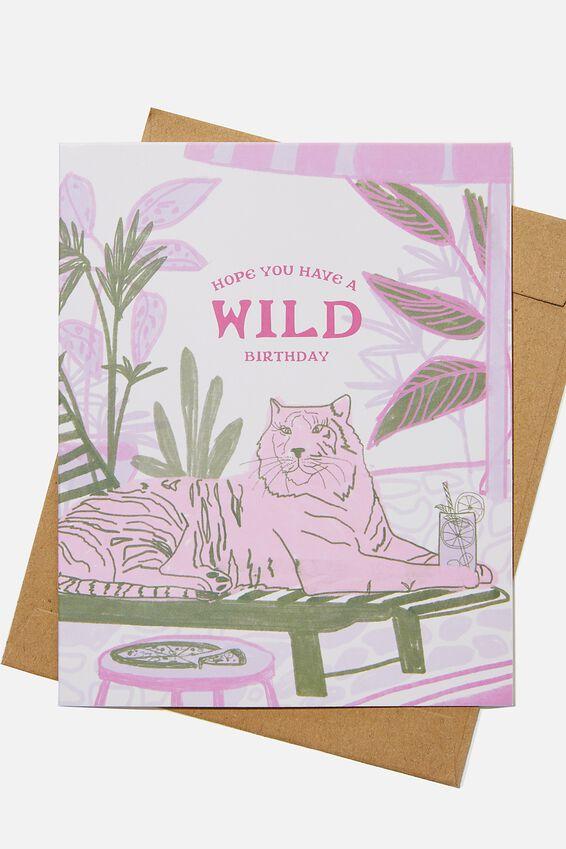 Funny Birthday Card, RG SAFANIMAL BIRTHDAY
