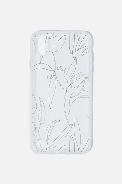 Snap On Protective Phone Case Xs Max, GUMNUT LEAVES