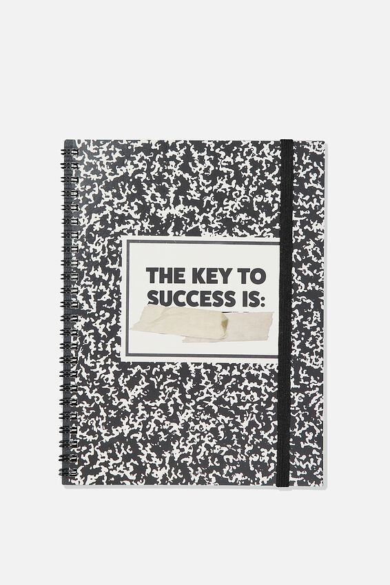 A5 Spinout Notebook Recycled, THE KEY TO SUCCESS