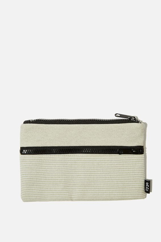 Archer Pencil Case, GREY STRIPE