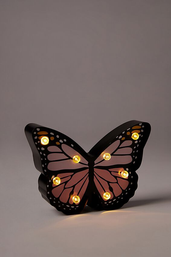 Shaped Mini Marquee Light, BUTTERFLY