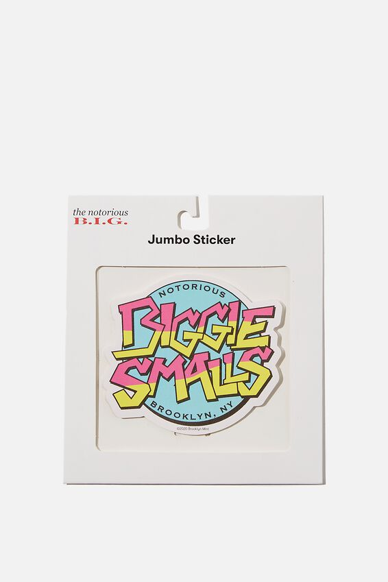 Biggie Smalls Jumbo Sticker, LCN MT BIG LOGO