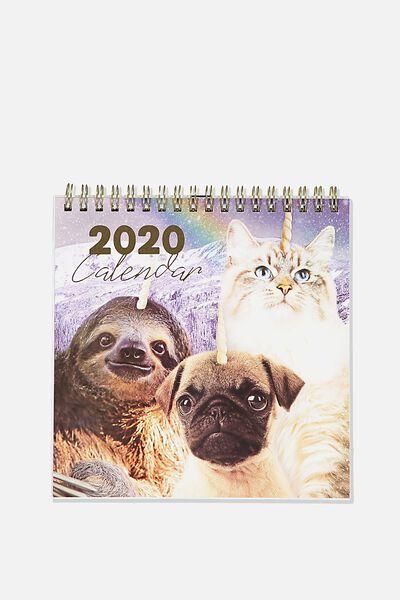 2020 Get A Date Flip Desk, ANICORNS