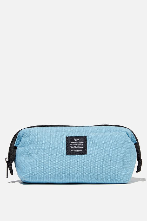 Billie Pencil Case, DENIM BLUE CANVAS