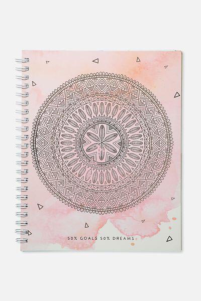 A4 Campus Notebook, PEACH MANDALA