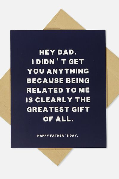Fathers Day Card, HEY DAD