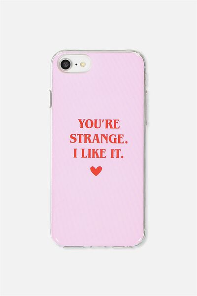Transparent Phone Cover Universal 6,7,8, YOURE STRANGE