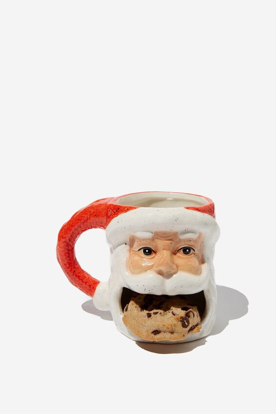 Cookie Mug, OPEN MOUTH SANTA