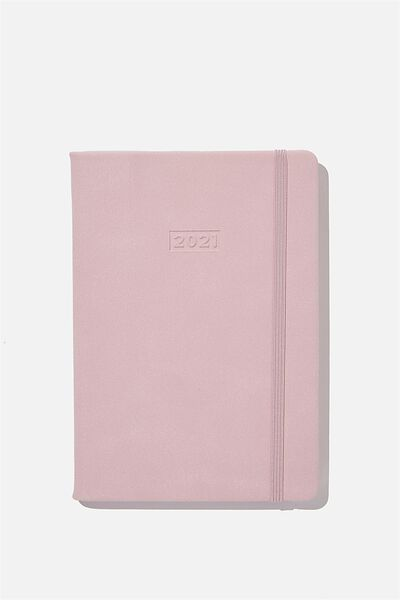 2021 A5 Weekly Buffalo Diary, HEATHER SUEDE