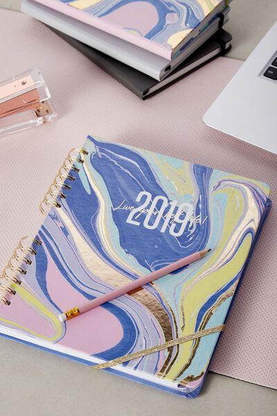 2019 Ultimate Planner, PASTEL MARBLE
