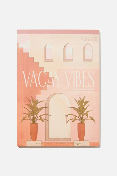 Artists Assistant Colouring In Book, VACAY VIBES