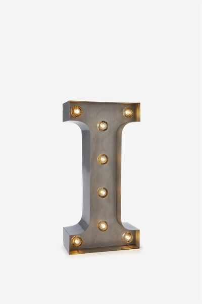 Small Letter Marquee Light, SILVER I
