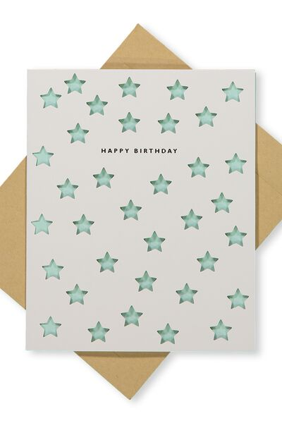 Premium Nice Birthday Card, DIE CUT STARS