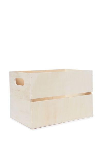 Wooden Crate, NATURAL