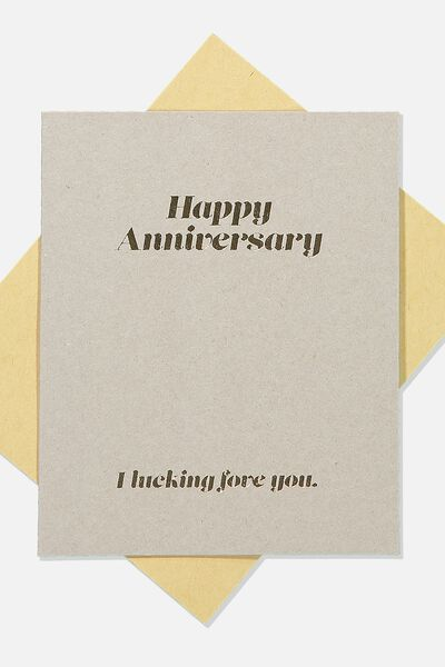 Anniversary Card, I LUCKING FOVE YOU ANNIVERSARY