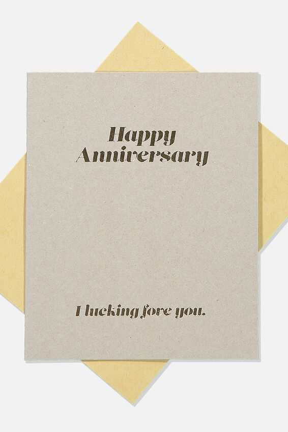 Anniversary Card, I LUCKING FOVE YOU ANNIVERSARY