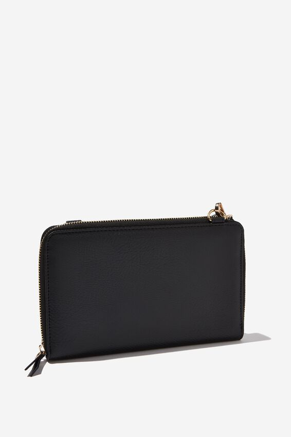 X-Body Travel Wallet, BLACK