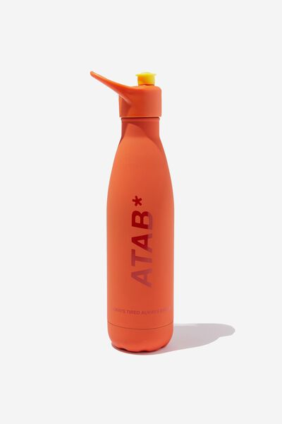 Sip Top Metal Drink Bottle, ORANGE ATAB