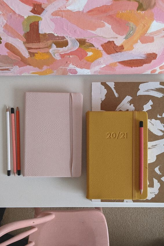 A5 Buffalo Journal, PEBBLED BLUSH