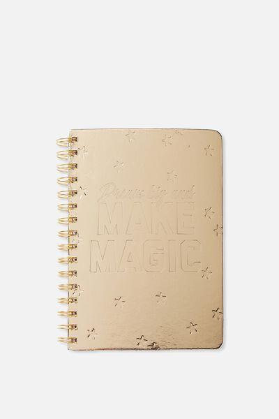 A5 Printed Spiral Notebook, DREAM BIG MAKE MAGIC